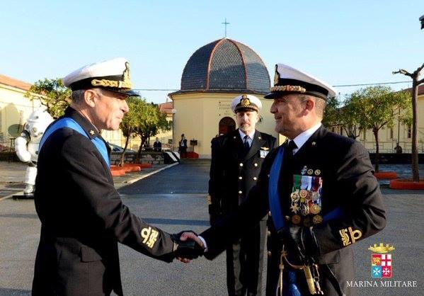Cambio di Comando al COMSUBIN ... l'ammiraglio Francesco Chionna è stato rilevato dall'ammiraglio Paolo Pezzuti