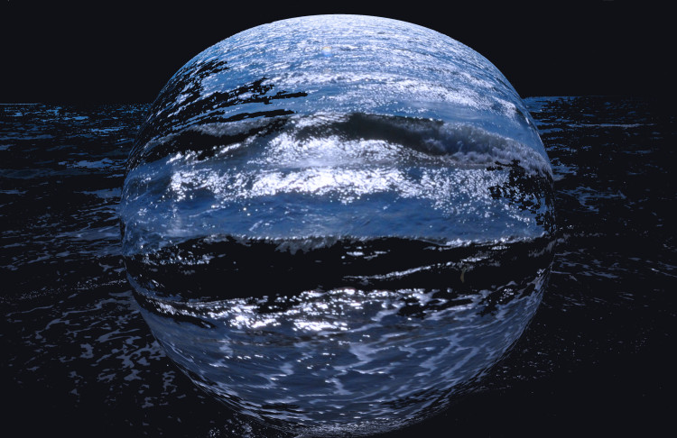 blue night sphere