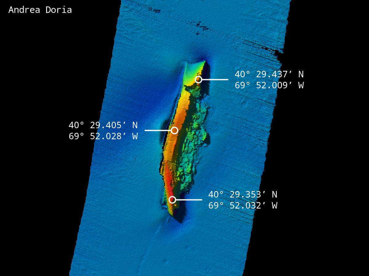 Il relitto dell'Andrea Doria: storia della più lussuosa cruise liner del dopoguerra