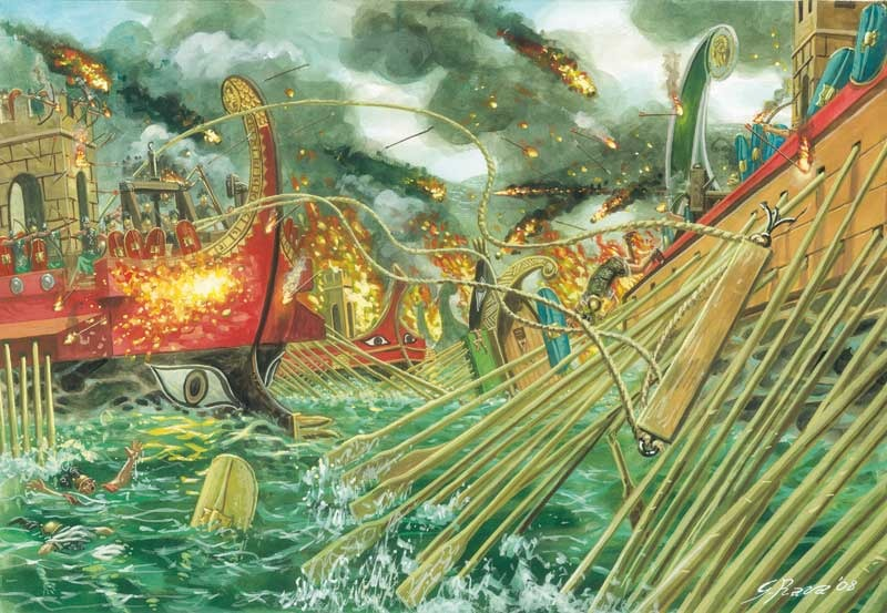 La difficile arte del combattimento navale all'epoca di Azio, si fa presto a dire speronamento di Nicola Zotti
