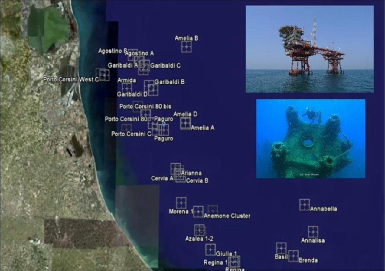 … e se creassimo una rete ecologica marina artificiale utilizzando le piattaforme sommerse dell'Adriatico?