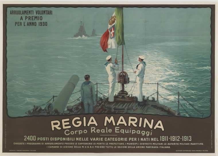 Evoluzione artistica dello stemma della bandiera della Marina Militare Italiana di Andrea Mucedola