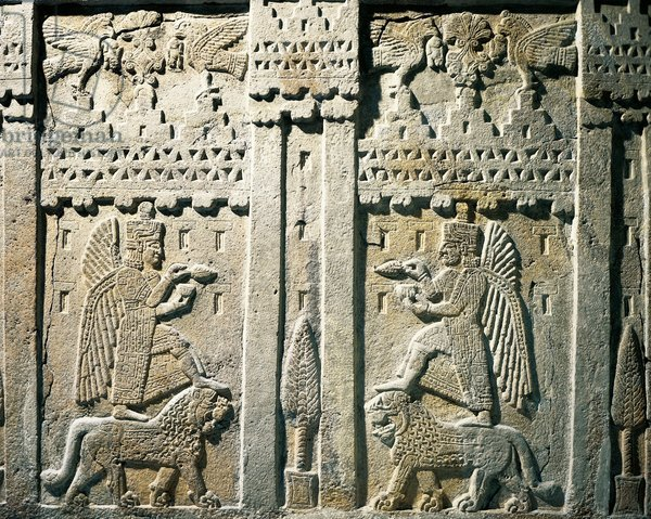DGA508486 Relief depicting offering bearers, from Urartu, Armenia; (add.info.: Hittite civilization, 1st millennium b.C. Relief depicting offering bearers. From Urartu, Armenia. Artwork-location: Ankara, Anadolu Medeniyetler Muzesi (Archaeological Museum)); De Agostini Picture Library / M. Seemuller; FRENCH PUBLISHING RIGHTS NOT AVAILABLE; out of copyright