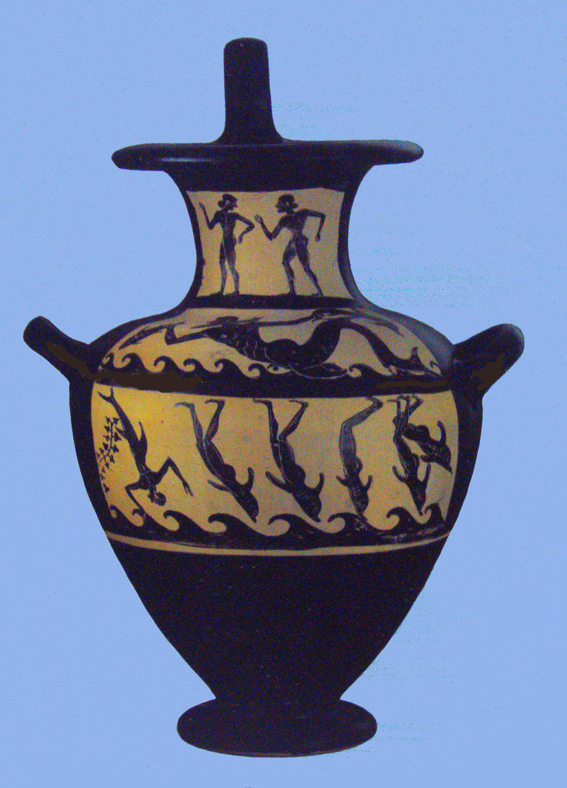 La leggenda di Dioniso e dei pirati che divennero delfini.