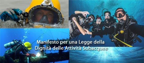 Subacquea: Un manifesto per la Dignità della Subacquea Italiana, verso una legislazione sempre più consapevole