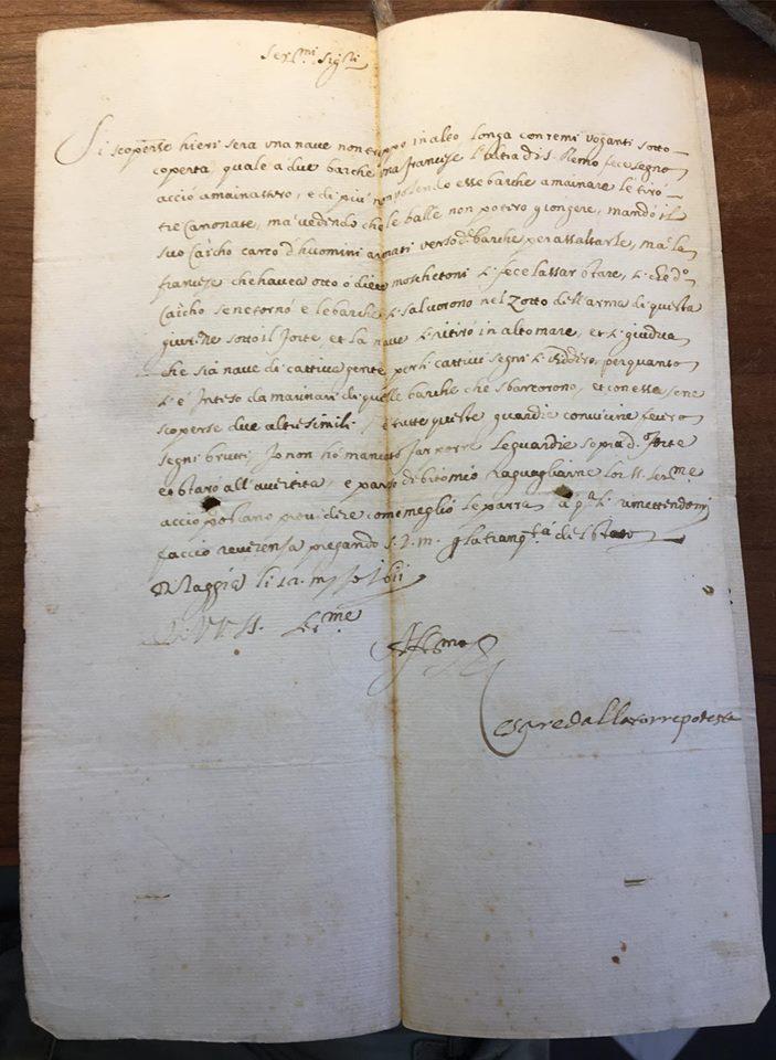 Analisi delle fonti: quante informazioni sulla storia marittima può contenere una singola lettera? di Emiliano Beri