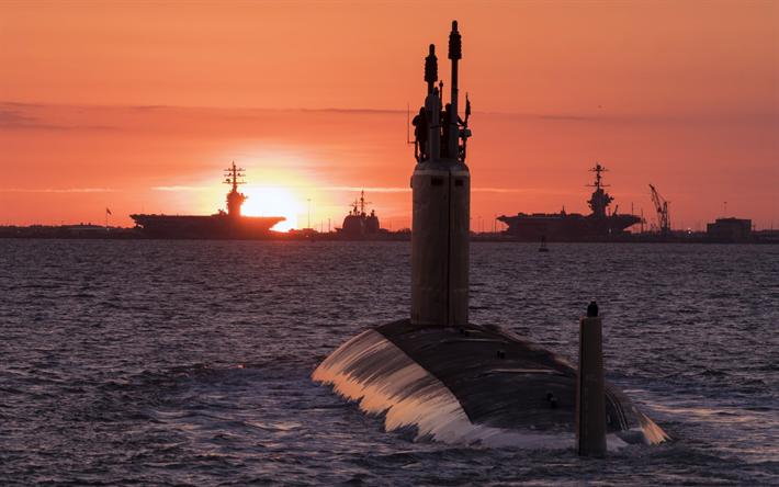 Questa immagine ha l'attributo alt vuoto; il nome del file è thumb2-nuclear-submarine-us-navy-sunset-sea-nuclear-aircraft-carriers.png