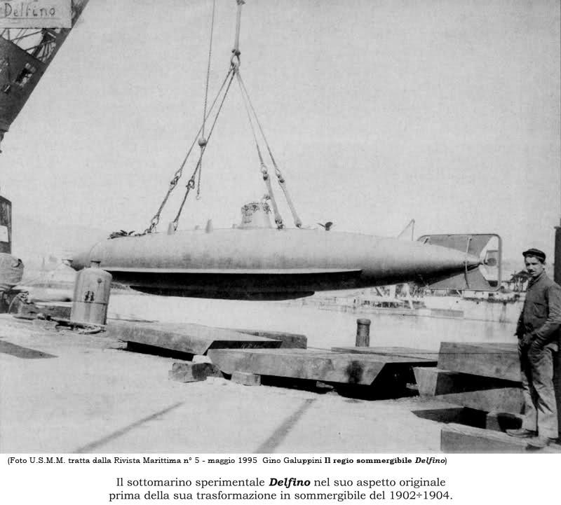 Il regio sommergibile Delfino