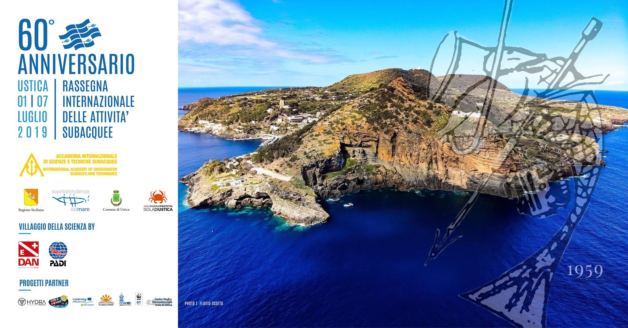 60° anniversario -  Rassegna stampa Accademia internazionale delle scienze subacquee, Ustica 2-3 luglio 2019