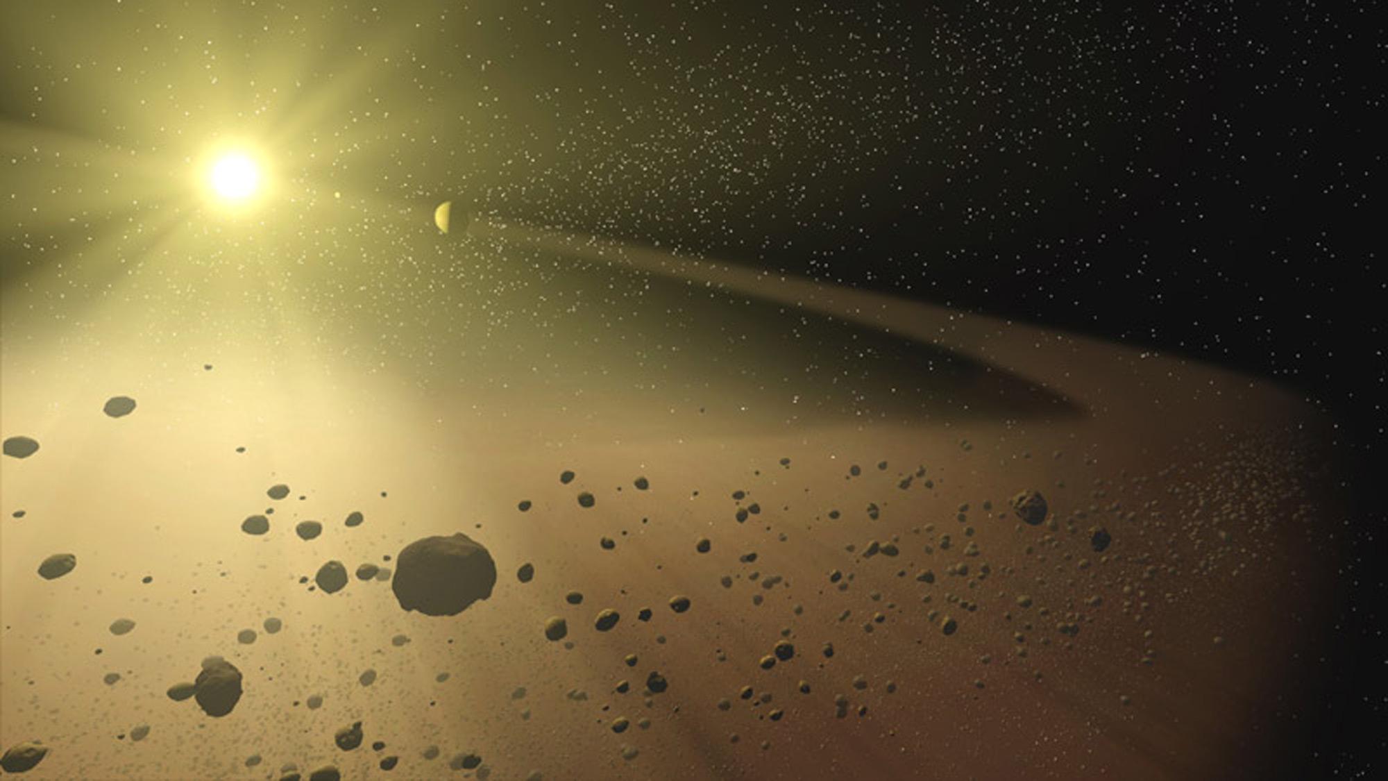 Viaggio nel sistema solare: la fascia degli asteroidi