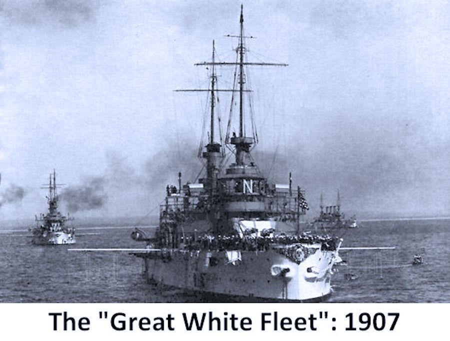 La crociera intorno al mondo della Great white fleet di Emiliano Beri