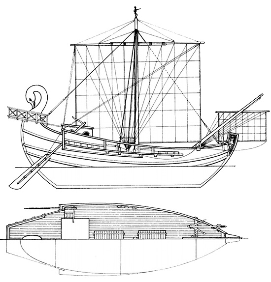 Questa immagine ha l'attributo alt vuoto; il nome del file è nave-commerciale-romana.jpg