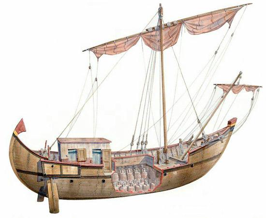 Questa immagine ha l'attributo alt vuoto; il nome del file è nave-romana-vela.jpg