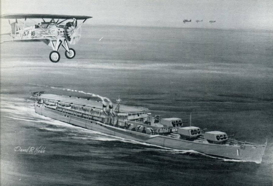 Questa immagine ha l'attributo alt vuoto; il nome del file è 1930s-us-navy-flight-deck-cruiser-hybrid-carrier.jpg