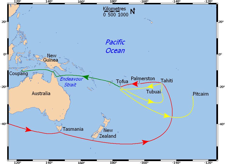 Questa immagine ha l'attributo alt vuoto; il nome del file è Bounty_Voyages_Map.png