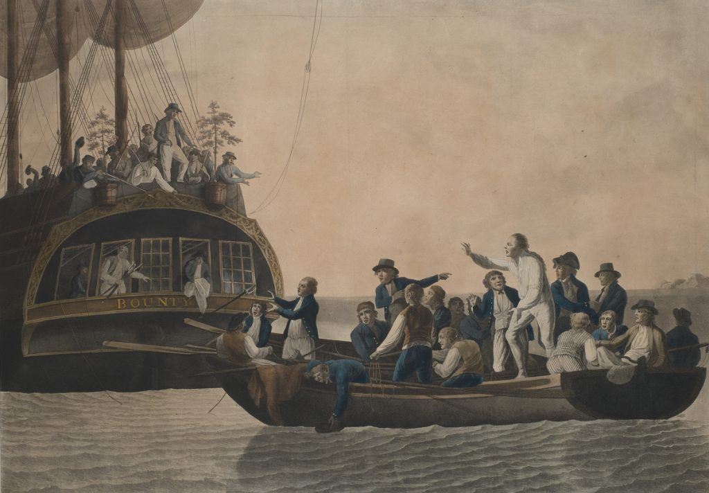Questa immagine ha l'attributo alt vuoto; il nome del file è The_Mutineers_turning_Lieut_Bligh_and_part_of_the_Officers_and_Crew_adrift_from_His_Majestys_Ship_the_Bounty__29_April_1789_RMG_S0713_cropped-1024x712.jpg