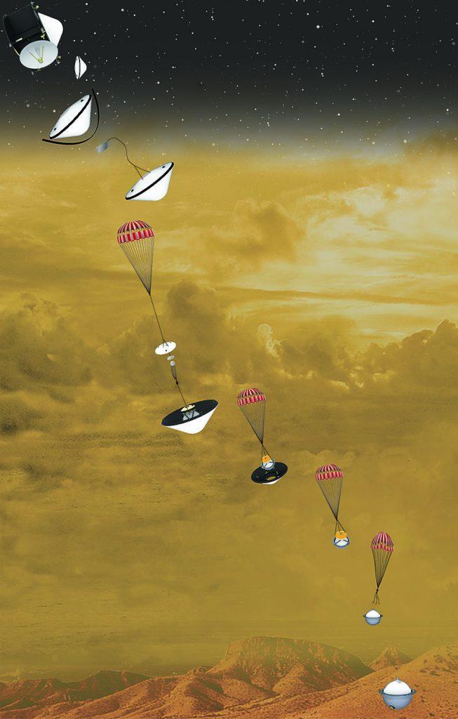 Questa immagine ha l'attributo alt vuoto; il nome del file è DAVINCI_Venus_mission_descent-653x1024.jpg