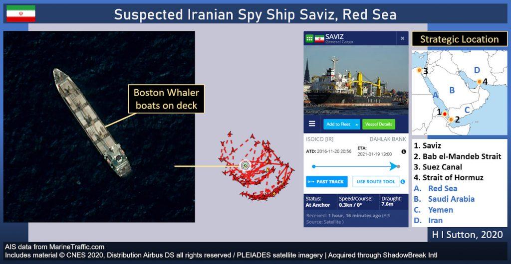 Questa immagine ha l'attributo alt vuoto; il nome del file è Iranian-IRGC-Spy-Ship-Saviz-Red-Sea-1024x530.jpg