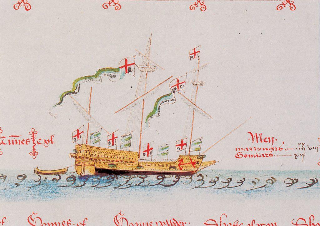 Questa immagine ha l'attributo alt vuoto; il nome del file è lyon-la-nave-di-bandiera-di-Wynter-1547-1024x722.jpg