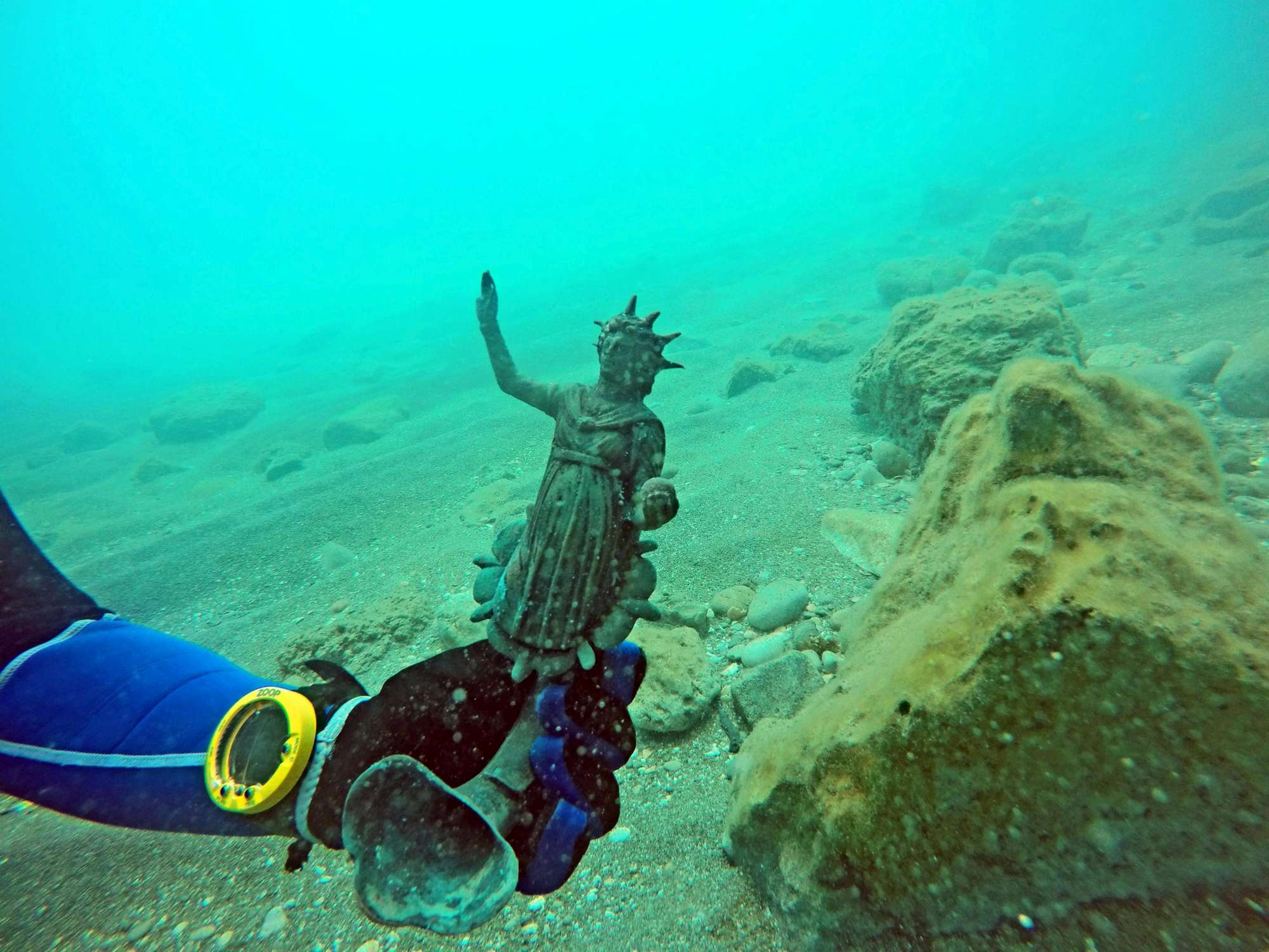 Ritrovato un carico spettacolare in un relitto di una nave romana nei pressi del porto di Cesarea