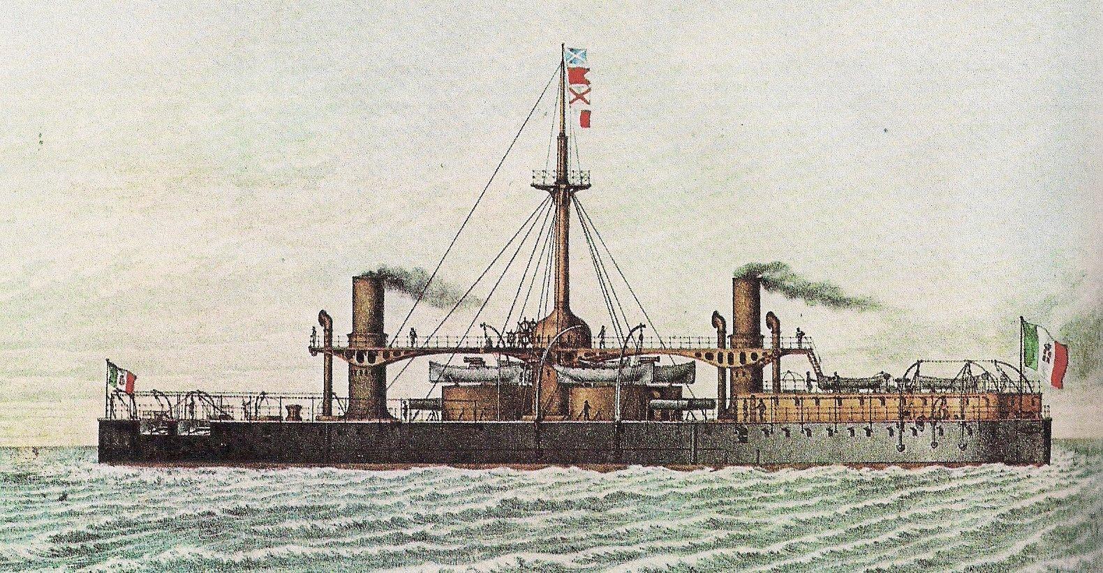 """Il Caio Duilio (1876) """"... la più potente nave da guerra che l'arte navale abbia mai espresso..."""" di Emiliano Beri"""