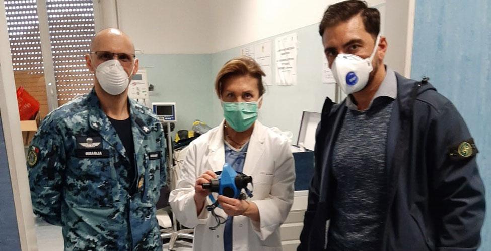 Emergenza COVID-19: il Gruppo Operativo Subacqueo del COM.SUB.IN. consegna le maschere in dotazione per i trattamenti iperbarici all'Ospedale Sant'Andrea di La Spezia