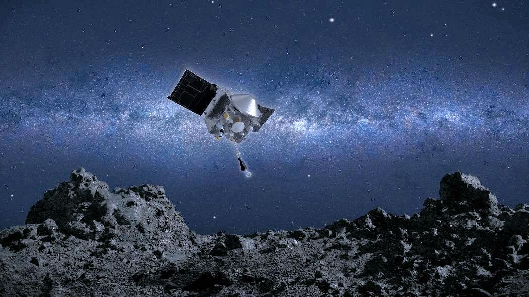 Un evento storico, la sonda OSIRIS-REx si è posata sull'asteroide Bennu