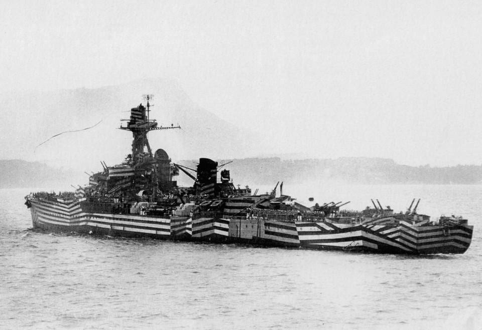 La  mimetizzazione navale Dazzle